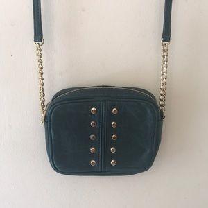 Michael Kors Crossbody bag - Hunter Green & Gold
